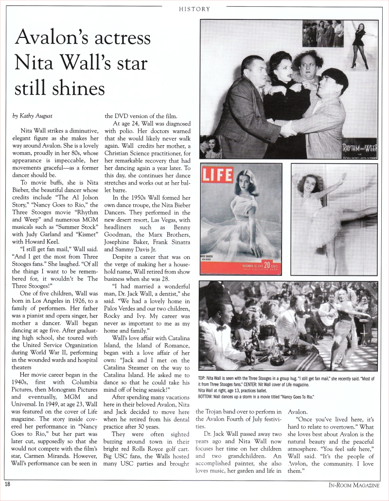 Nita in In Room Magazine in Avalon